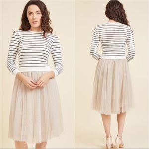 ♣️ EUC ModCloth Tokyo Gift Twofer Dress Size L ♣️